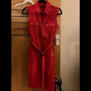 NWT sharagano red dress